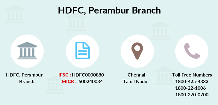 Hdfc-bank Perambur branch