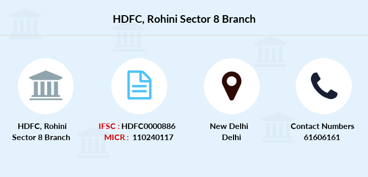 Hdfc-bank Rohini-sector-8 branch