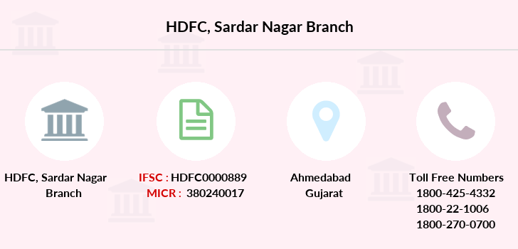 Hdfc-bank Sardar-nagar branch