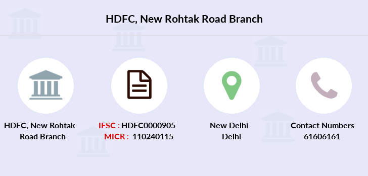 Hdfc-bank New-rohtak-road branch