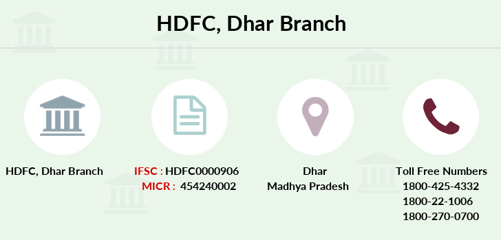 Hdfc-bank Dhar branch
