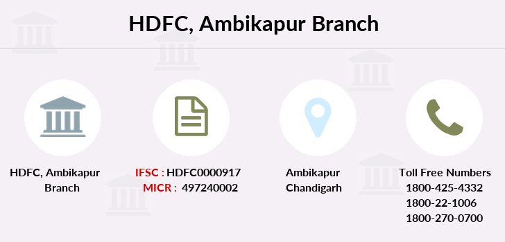Hdfc-bank Ambikapur branch