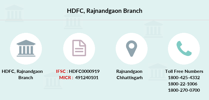 Hdfc-bank Rajnandgaon branch