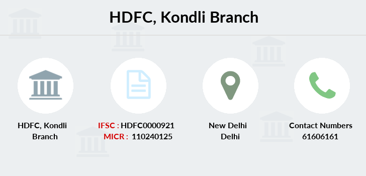 Hdfc-bank Kondli branch