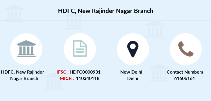 Hdfc-bank New-rajinder-nagar branch