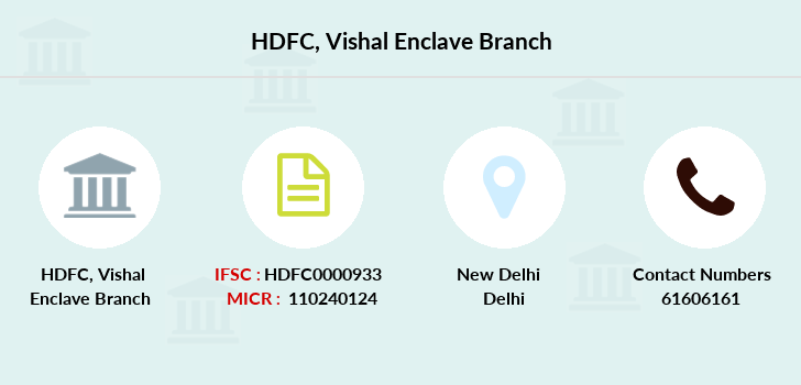 Hdfc-bank Vishal-enclave branch
