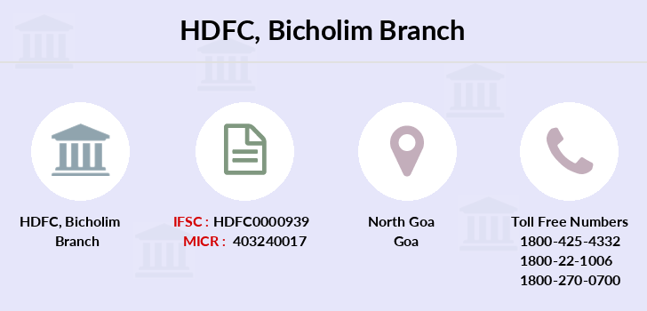 Hdfc-bank Bicholim branch