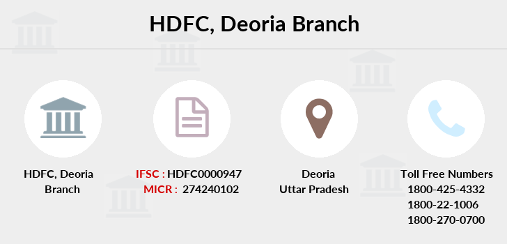 Hdfc-bank Deoria branch