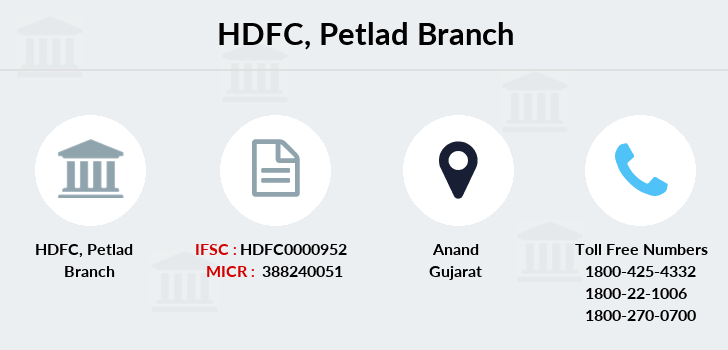 Hdfc-bank Petlad branch