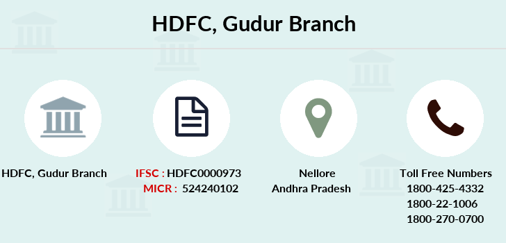 Hdfc-bank Gudur branch