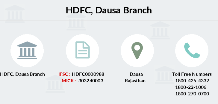 Hdfc-bank Dausa branch