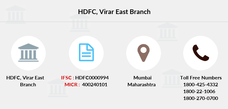 Hdfc-bank Virar-east branch