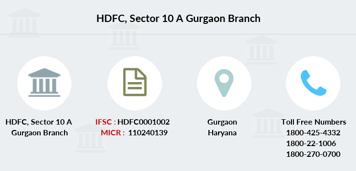 Hdfc-bank Sector-10-a-gurgaon branch