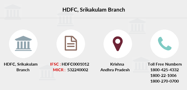 Hdfc-bank Srikakulam branch