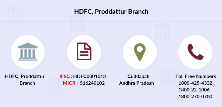 Hdfc-bank Proddattur branch