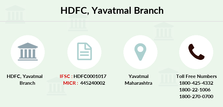 Hdfc-bank Yavatmal branch