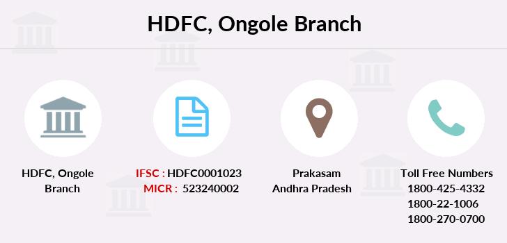 Hdfc-bank Ongole branch
