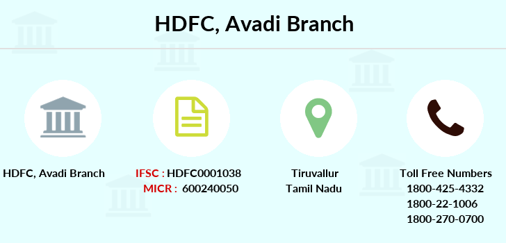 Hdfc-bank Avadi branch