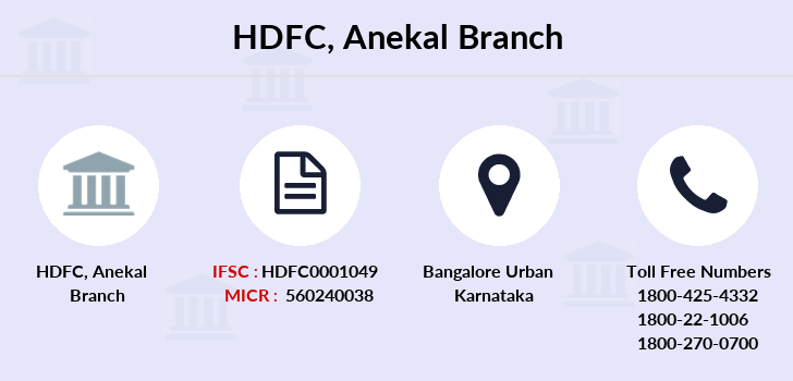 Hdfc-bank Anekal branch