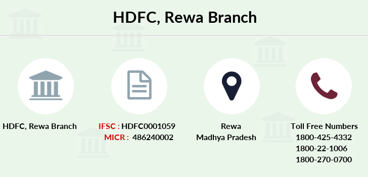 Hdfc-bank Rewa branch