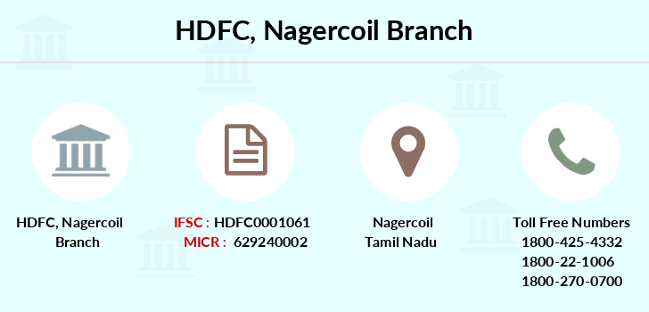 Hdfc-bank Nagercoil branch