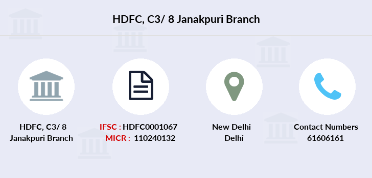 Hdfc-bank C3-8-janakpuri branch