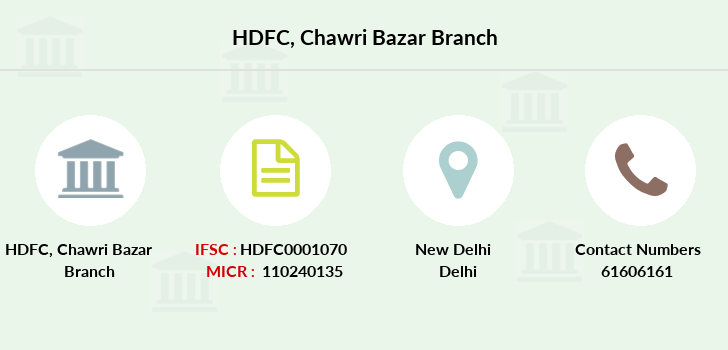 Hdfc-bank Chawri-bazar branch