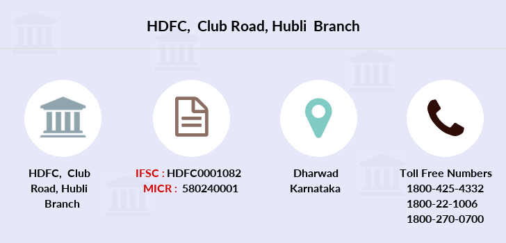 Hdfc-bank Club-road-hubli branch