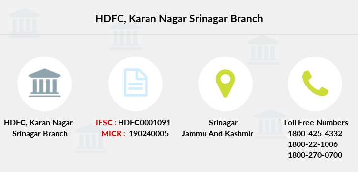 Hdfc-bank Karan-nagar-srinagar branch