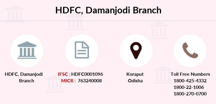 Hdfc-bank Damanjodi branch