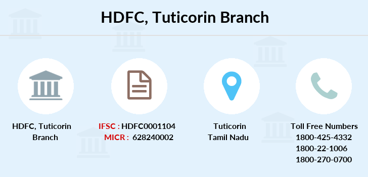 Hdfc-bank Tuticorin branch