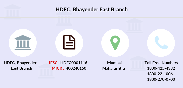 Hdfc-bank Bhayender-east branch