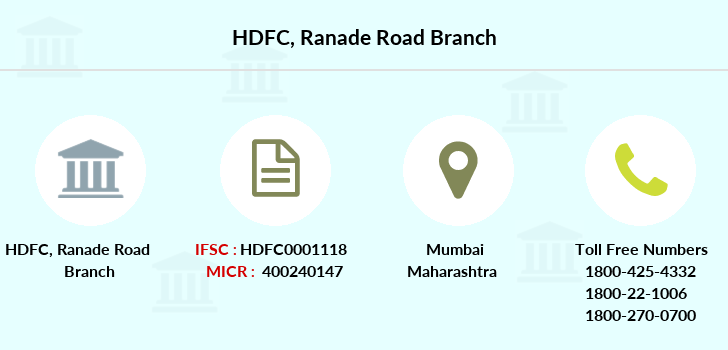 Hdfc-bank Ranade-road branch