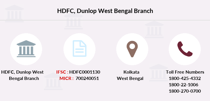 Hdfc-bank Dunlop-west-bengal branch