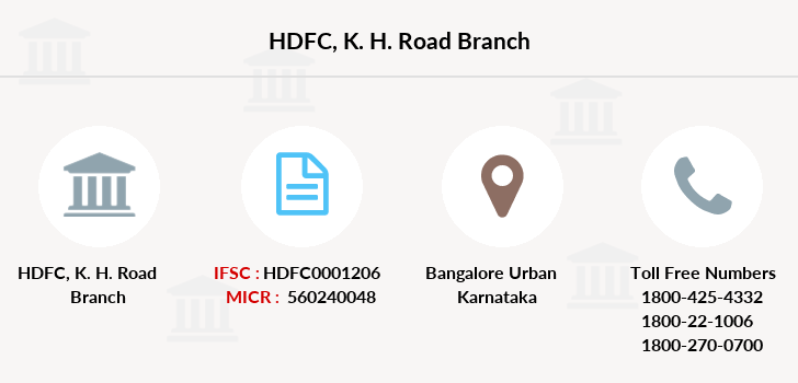 Hdfc-bank K-h-road branch
