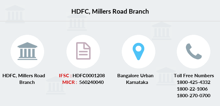 Hdfc-bank Millers-road branch