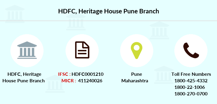 Hdfc-bank Heritage-house-pune branch