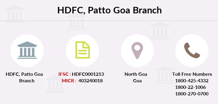 Hdfc-bank Patto branch