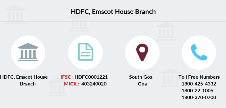 Hdfc-bank Emscot-house branch