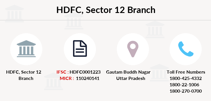 Hdfc-bank Sector-12 branch