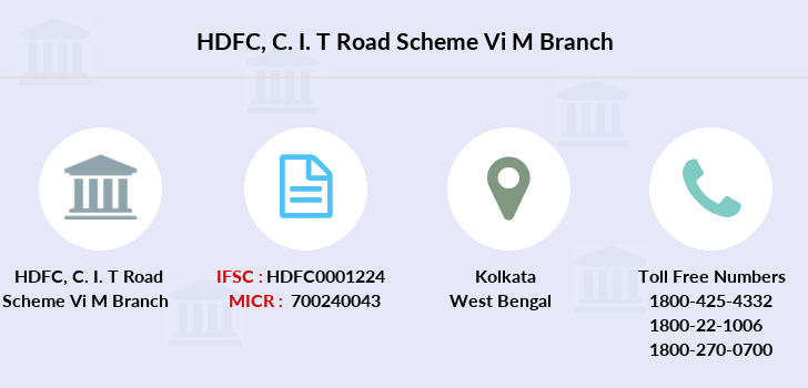 Hdfc-bank C-i-t-road-scheme-vi-m branch