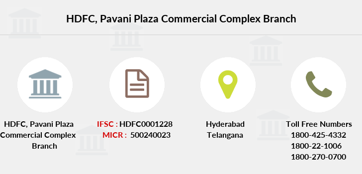 Hdfc-bank Pavani-plaza-commercial-complex branch