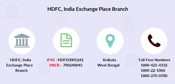 Hdfc-bank India-exchange-place branch