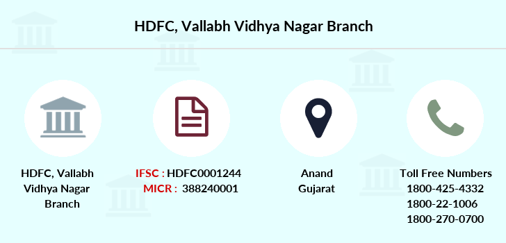 Hdfc-bank Vallabh-vidhya-nagar branch