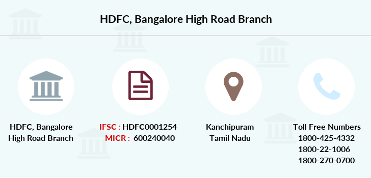 Hdfc-bank Bangalore-high-road branch