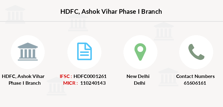 Hdfc-bank Ashok-vihar-phase-i branch