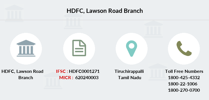 Hdfc-bank Lawson-road branch