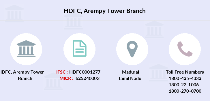 Hdfc-bank Arempy-tower branch