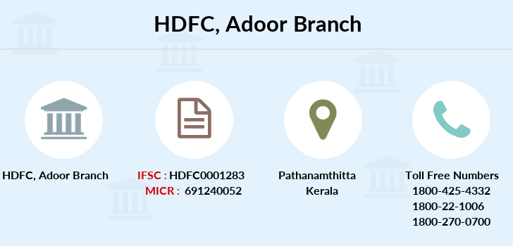 Hdfc-bank Adoor branch