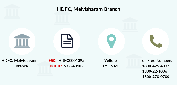 Hdfc-bank Melvisharam branch